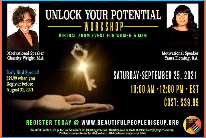 Unlock Your Potential (2 Hours Virtual Workshop) image