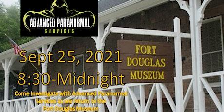 Fort Douglas Museum Paranormal Investigation, Saturday, September 25 tickets