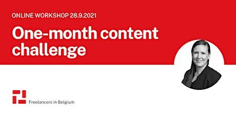 1-Month content challenge workshop for freelancers tickets
