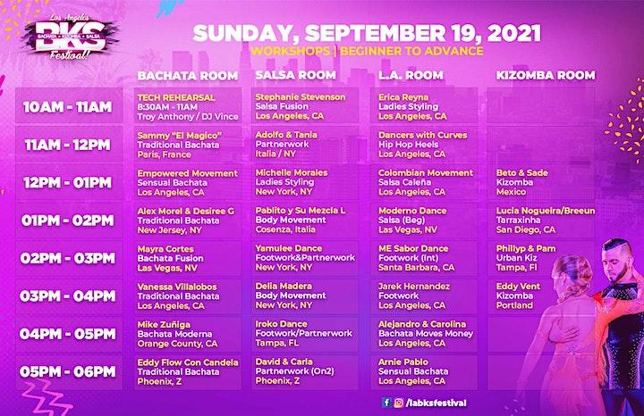 Los Angeles BKS Festival - September 17 - 19, 2021 image