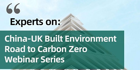 Experts on: UK-China Reducing Carbon Emission in Cement and Concrete tickets