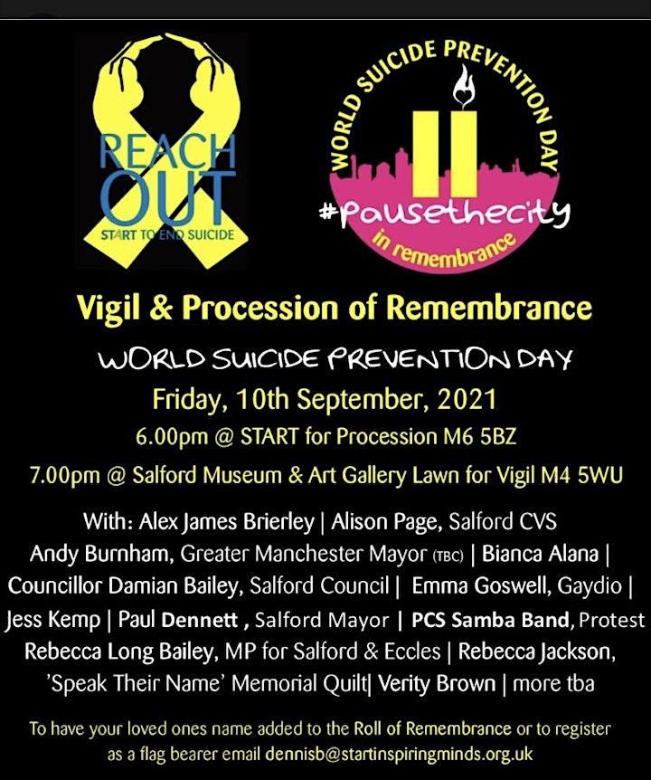 World Suicide Prevention Day Vigil & Procession of Remembrance image