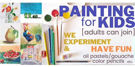 PAINTING for KIDS [7-12y.o.] - every Wednesday - [LIVE in ZOOM] tickets