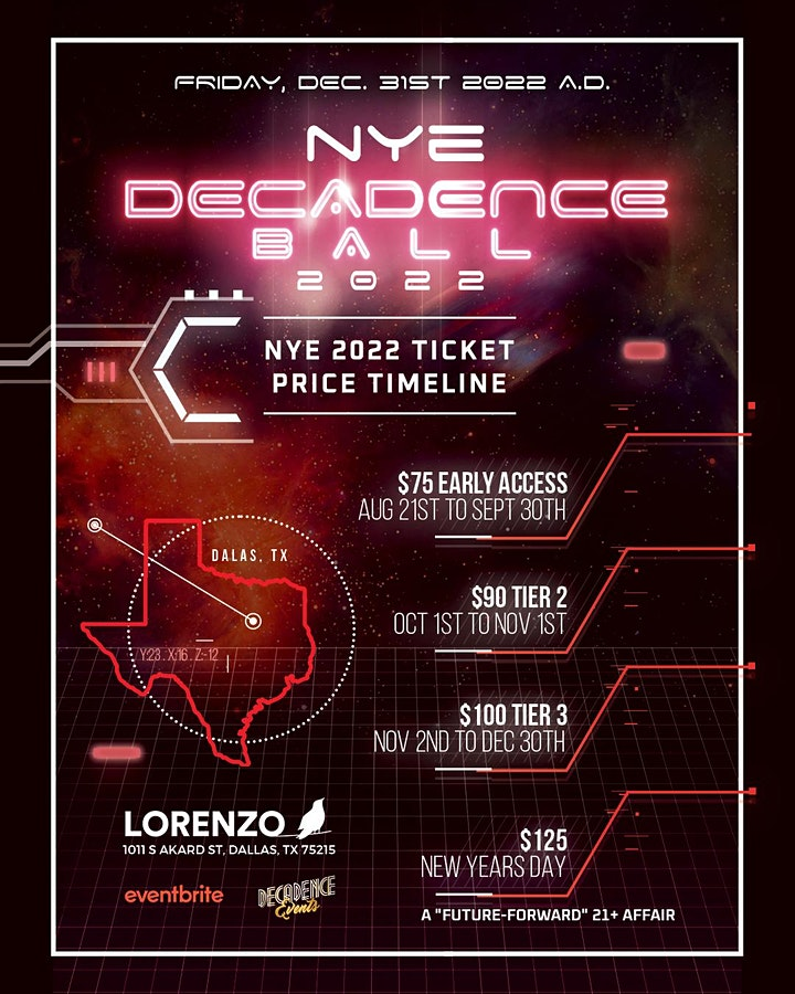 Decadence Ball Dallas NYE 2022 image
