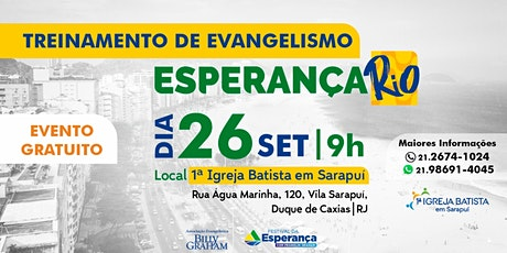 Treinamento - Esperança RIO - Gratuito ingressos