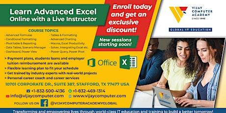 Advanced Excel - 2-  Live instructor led online hands-on workshop tickets