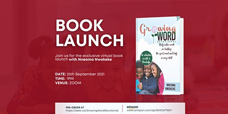 Growing Word Book launch tickets