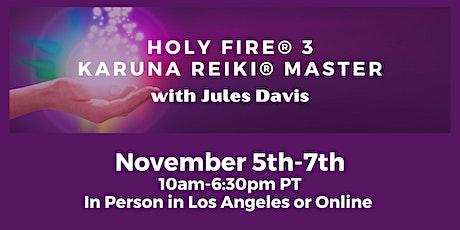 Holy Fire® 3 Karuna Reiki® Master Training with Jules Davis tickets