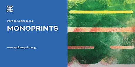 Intro to Letterpress: Monoprints tickets
