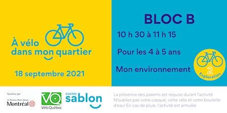 À Vélo dans mon quartier - 18 septembre 2021 - Bloc B billets
