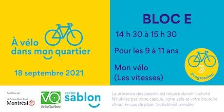 À Vélo dans mon quartier - 18 septembre 2021 - Bloc E tickets