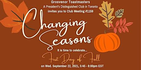 gTM Online Club Meeting #1159 - Theme: Changing Seasons tickets