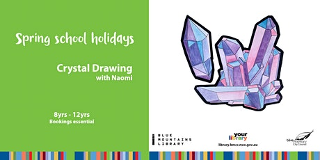 School Holidays ONLINE - Crystal Drawing Workshop - For Kids tickets