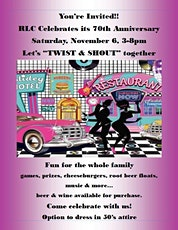 RLC Celebrates its 70th Anniversary -Let's Twist and Shout - Family  Fun tickets