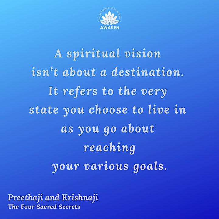 Online Book Group- The Four Sacred Secrets by Preethaji and Krishnaji image