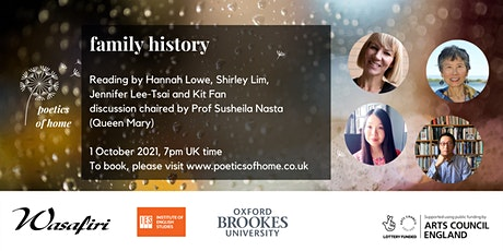 Poetics of Home: Family History tickets