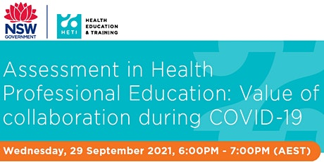 Assessment in Health Professional Education: Collaboration during Covid-19 tickets