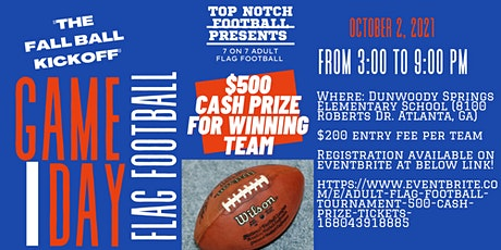 Adult Flag Football Tournament $500 Cash Prize tickets