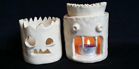 Spooky Lantern or Oil Burner | Pottery Workshop w/ Siriporn Falcon-Grey tickets