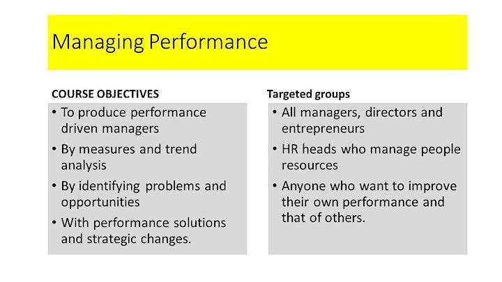 MANAGING PERFORMANCE image