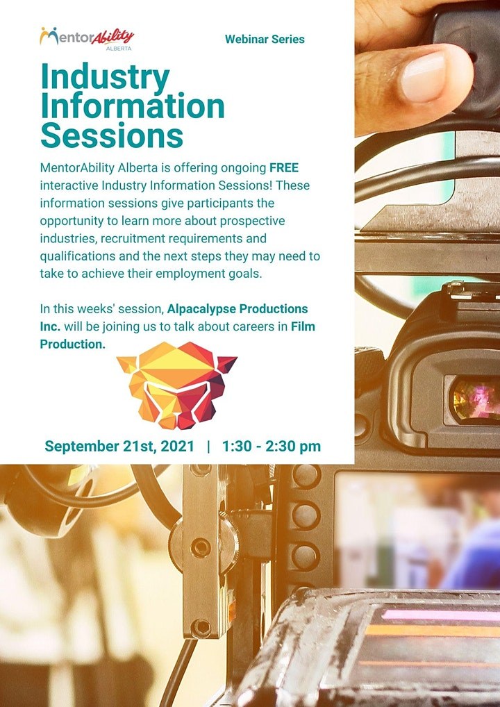 MentorAbility Industry Information Session: Careers in Film Production image