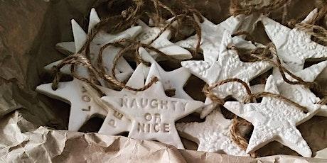 Holiday Ornaments or Trinket Dish| Pottery Workshop w/ Siriporn Falcon-Grey tickets