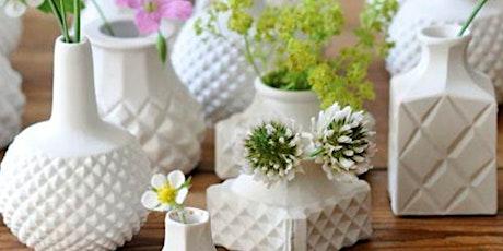 Flower Bud Vase | Pottery Workshop w/ Siriporn Falcon-Grey tickets