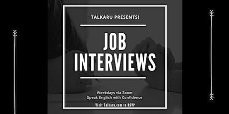 Job Interviews | Job interview Practice in English tickets