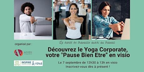 Le Yoga Corporate by Inspire et vous, votre Pause bien-être en visio tickets