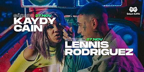 Concierto de Lennis Rodriguez y Kaydy Cain - Sala Kaya (Madrid) entradas