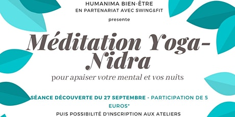 séance découverte Méditation Yoga-Nidra  - Humanima/swing&Fit billets