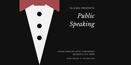 Public Speaking | English Confidence and Fluency Workshop tickets