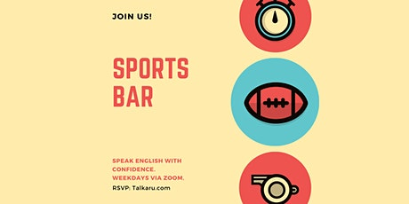 Sports Bar | English Conversation Practice tickets