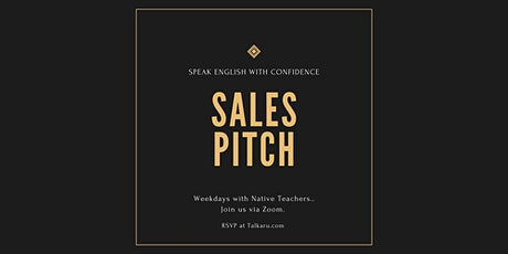Sales Pitch | Sales Training Workshop for ESL Students tickets