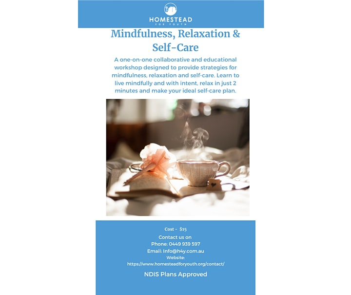 Mindfulness, Relaxation & Self Care- Adult & Teen Workshops image