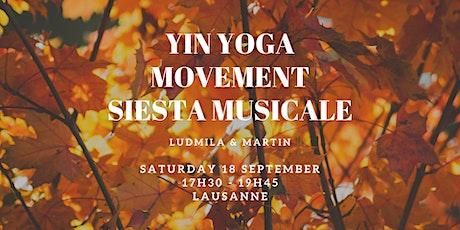 Yin Yoga, Movement & Siesta Musicale with Ludmila & Martin tickets
