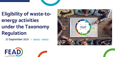 Eligibility of waste-to-energy activities under the Taxonomy Regulation tickets