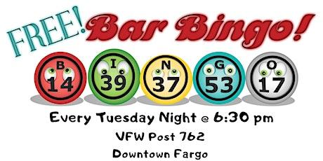 Free Bar Bingo @ VFW Post 762 tickets