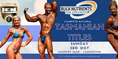 ICN Tasmanian Titles SHOW TWO tickets