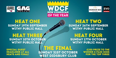 WDCF New Comedian of the Year Competition - Heat Two tickets