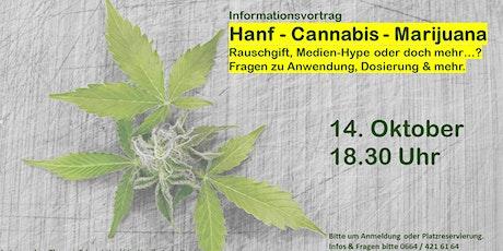 """Hanf - Medienhype oder die neue """"Supermedizin""""? Tickets"""