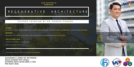 Regenerative Architecture: Systems Thinking with Ar. Ronnie Yumang tickets