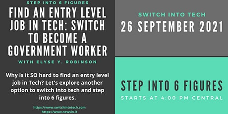 Find an Entry Level Job in Tech: Switch to Become a Government Worker tickets