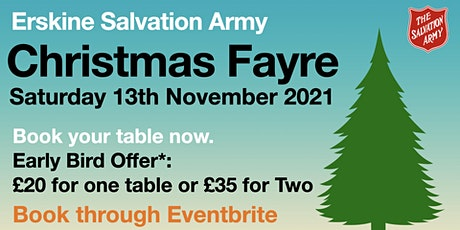 Erskine Salvation Army's Christmas Fayre tickets