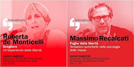 ff21 | DE MONTICELLI - RECALCATI | Sassuolo, Tenda del Parco Ducale biglietti