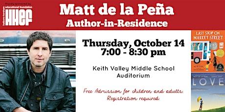 Matt de la Peña: writer of children's books and novels for young adults tickets