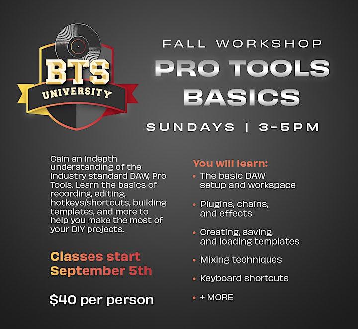 BTSU Workshops: Pro Tools Basics 101 image