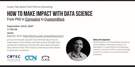 How To Make Impact with Data Science in QuantumBlack tickets