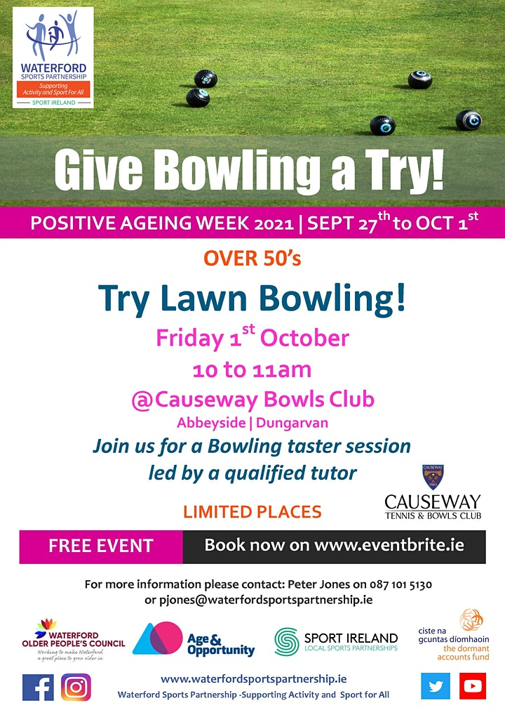 Positive Ageing Week - Try Lawn Bowling image