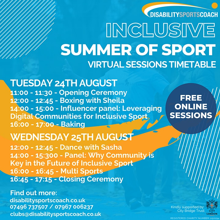 Disability Sports Coach Inclusive Summer of Sport image